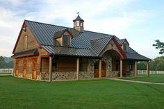 barn house... love the part stone...