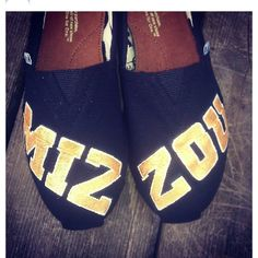 Mizzou Toms - time to get the gold glitter paint out!