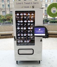 A vending machine powered by...Twitter. Fantastic story.