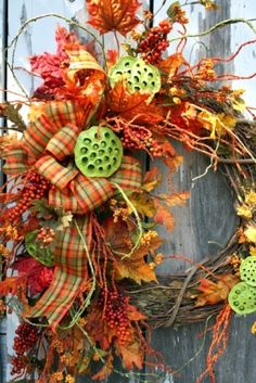 Fall wreath by Dgavent