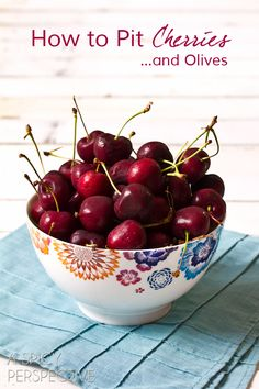 How to Pit Cherries (And Olives) ASpicyPerspective... #howto #kitchentools #oxo #cherries
