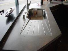 integrated concrete drainboard