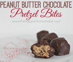 holiday treats, pretzel bites, chocol pretzel, peanut butter, christmas cookie exchange, pretzel ball, chocolate pretzels