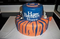 hisgraceofcakes.blogspot.com       Football Birthday cake photos. The best football cakes on Pinterest and the best football cakes on the web! Football cake ideas such as Football Stadium cakes, football field cakes, football helmet cakes, and football logo cakes. #football #cakes #gifts
