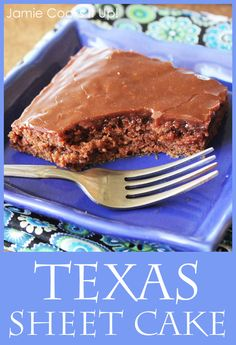 Texas Sheet Cake Jamie Cooks It Up! #chocolate #cake #potluckrecipes #jamiecooksitup