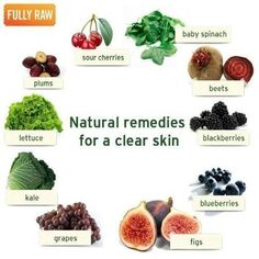 Foods for clear skin!