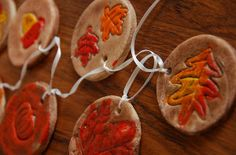 Bring a little bit of the outdoors in with these salt dough ornaments.