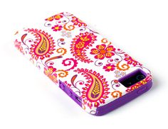 $8.  Amazon.com: DandyCase 2in1 Hybrid High Impact Hard Vintage Hot Pink Pattern + Purple Silicone Case Cover For Apple iPhone 5S & iPhone 5 (not 5C) + DandyCase Screen Cleaner: Cell Phones & Accessories
