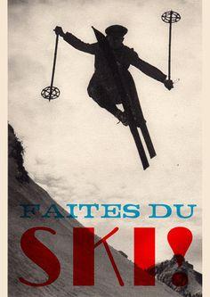 Double Merrick - Faites du Ski print