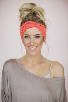 Turban Headband Women's Solid Jersey Turban Hair, by ThreeBirdNest