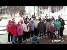 Just in time for the cold weather - senior living residents snowtubing!