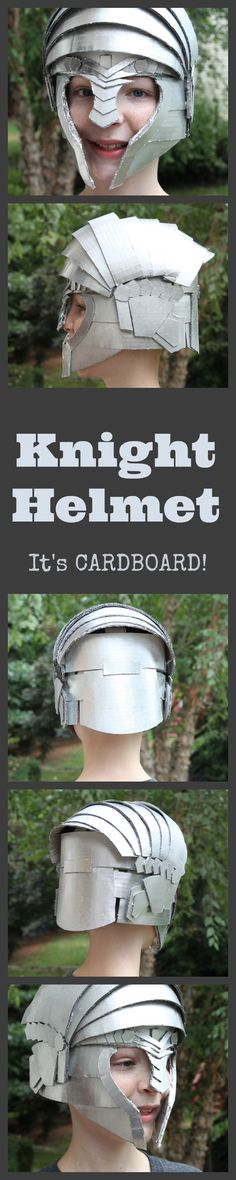 Make Your Own Knight Helmet with Crafteeo - great for a Knight Halloween costume or pretend play
