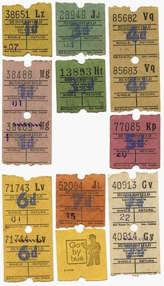 vintage bus tickets