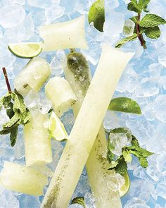 Mojito Boozy Ice Pops - now this is eye, and mouth candy. yum!
