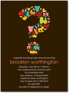 Charming Reveal Baby Shower Invitation