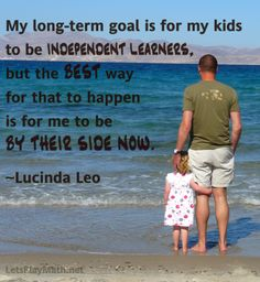 Raising Independent Learners: Today's quote is from Lucinda Leo at Navigating by Joy. Background photo courtesy of Peter Werkman (CC BY 2.0) via Flickr.