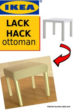 IKEA LACK HACK So cute and easy! This woman has THE BEST DIY BLOG IN THE WORLD. Seriously. Amazing.