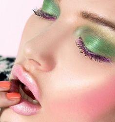 december, green lid, eye shadow, lip, colors, milk model, beauti, green eyes, harriet coleman