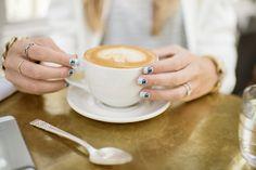 latte + nail art