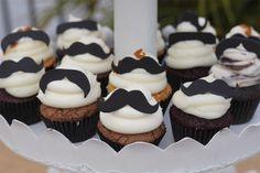 Mustache Cupcakes!  #creative #cupcakes #fun