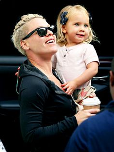 Pink and her daughter Willow in Australia