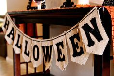 Project Nursery - Burlap Halloween Banner #Halloween