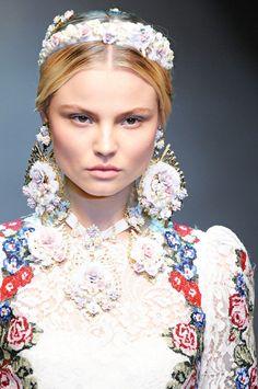 #Polish #model #MagdalenaFrackowiak in Dolce & Gabbana Fall 2012