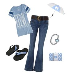 """""""UNC Tarheel Game day outfit"""" by april-warren-padgett on Polyvore...cool website!"""