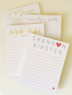Custom Note Pads Personalized / Logo by PaperPleaseStudio on Etsy