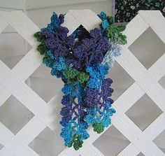 Sweet Pea Scarf - crochet pattern - good tutorial with photos
