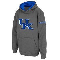 Kentucky Wildcats Youth Big Logo Pullover Hoodie Sweatshirt - Charcoal
