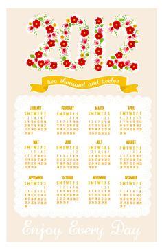 <3<3<3  2012 Calendar, via Etsy.