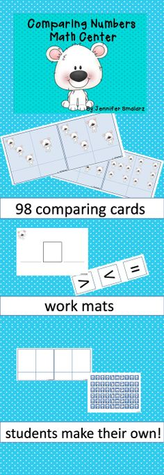 Comparing numbers fun! Independent work for your students while you work with small groups.