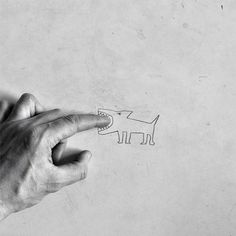 Art activity- simple pencil drawing and they have to take a photograph of it with their hand interacting in some way.