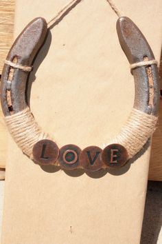 Recycled Horseshoe. So cute and easy!
