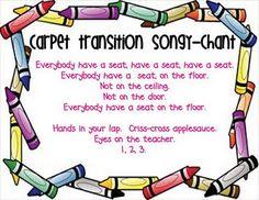 Transition Songs transition songs, circl, carpet songs, kinder song, preschool idea, kindergarten, educ, classroombehavior manag, teach