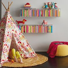 A Teepee to Call Your Own (Floral)  | The Land of Nod