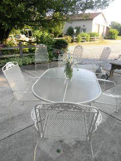 Lyon shaw windflower lattice the back porch pinterest - Vintage lyon lounge ...
