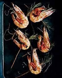 Rosemary-Skewered Shrimp Recipe on