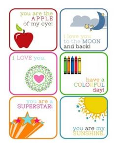 lunch idea, school lunch, lunch notes for kids, bag topper, lunchbox printables