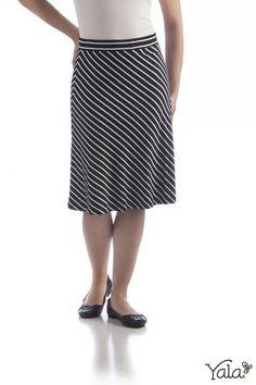 Knee Length Bamboo Skirt
