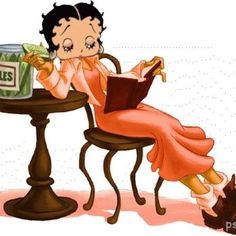 Betty Boop Reading . . . so relaxing!!