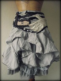 upcycl beauti, beauti skirt, upcycl skirt, jeans upcycling, jean skirts, glove, diy skirt, christma, blues