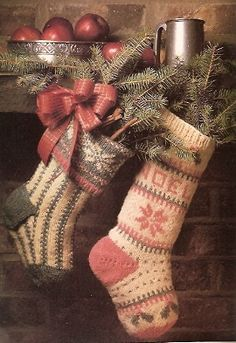 vintage knit stockings