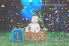 1st birthday, fun confetti, pictur idea, first birthdays, photo, confetti idea, kid, first birthday pictures