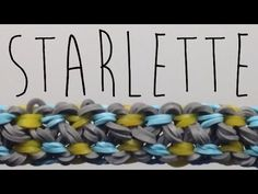 Rainbow Loom STARLETTE Bracelet. Designed and loomed by Mario at OfficiallyLoomed. Click photo for YouTube tutorial. 05/04/14.