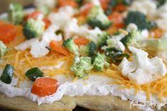 Veggie Pizza Recipe - great big game appetizer