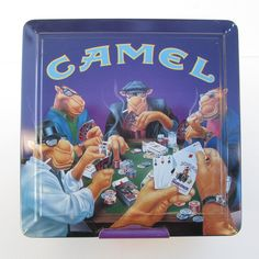 Camel Cigarettes Poker Set In Tin, Unused