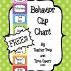 "FREE Clip Chart Behavior Management System - Cute Polka Dots  Buy an editable version of this item in my 'Cute Polka Dots Classroom Décor Bundle!"" ..."
