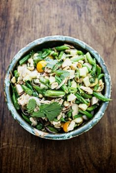 Soba Noodles with Green Beans & Toasted Sesame-LimeVinaigrette... Summer Salad